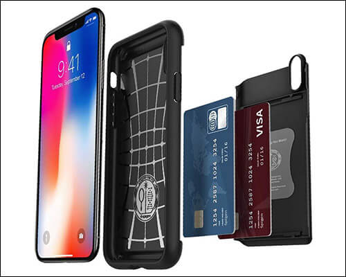 Spigen Slim Armor Wallet Case for iPhone Xs
