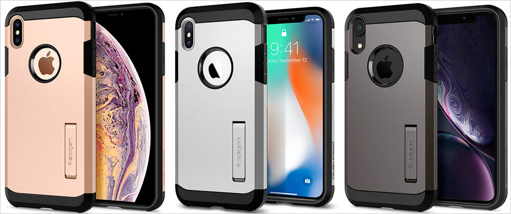Spigen Tough Armor Cases for iPhone Xs Max, Xs, and iPhone XR