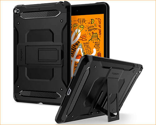 Spigen Tough Armor iPad Mini 5 Kickstand Case