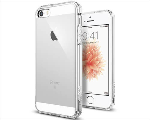 Spigen Ultra Hybrid iPhone SE and iPhone 5s Clear Case