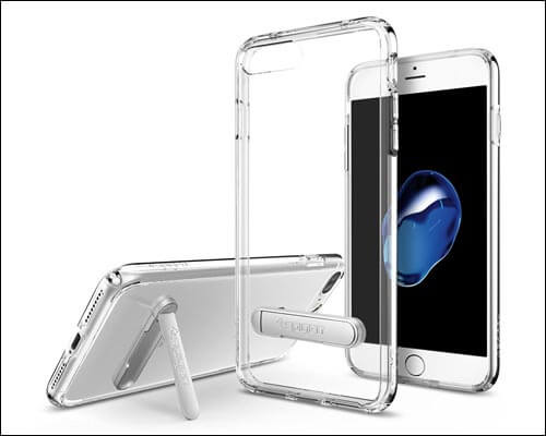 Spigen iPhone 7 Plus Clear Case with Kickstand