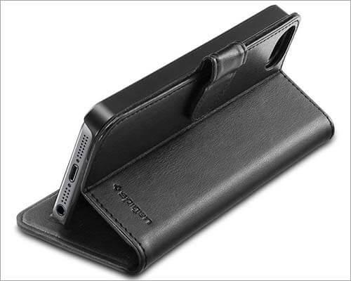 Spigen iPhone SE, 5s, and iPhone 5 Kickstand Wallet Case