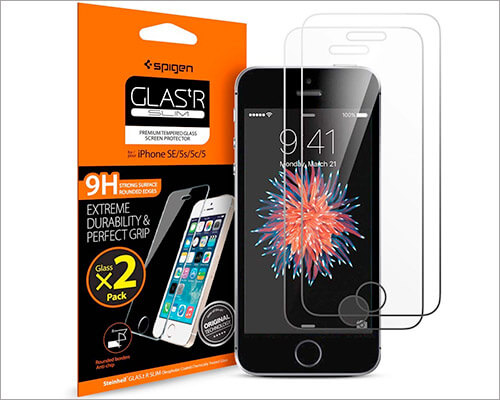 Spigen iPhone SE Glass Screen Protector
