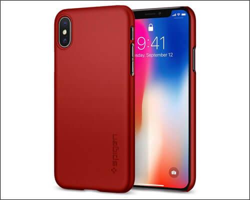 Spigen iPhone X Metallic Red Case