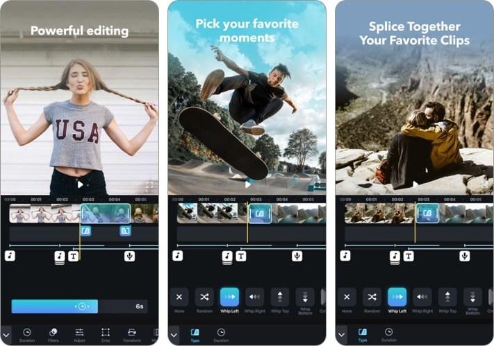 Splice Video Editing iPhone and iPad App Screenshot