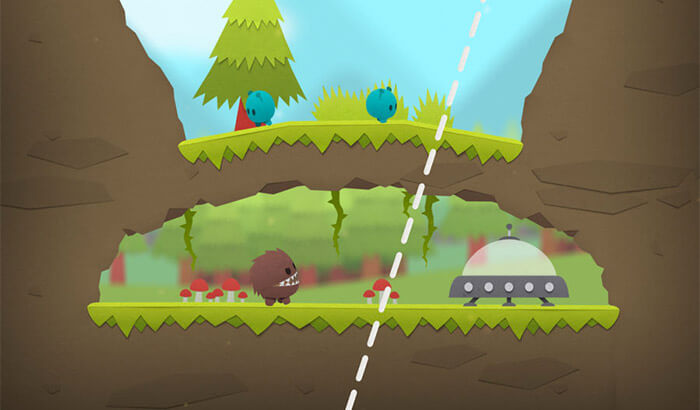 Splitter Critters iPhone and iPad AR Puzzle Game Screenshot