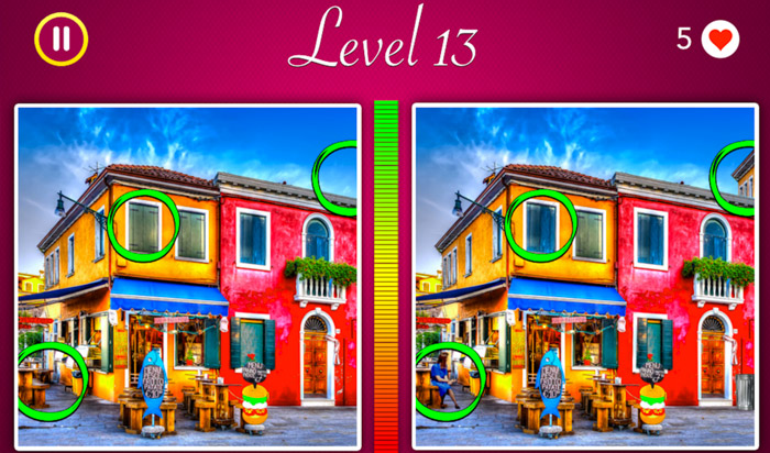 Spot the Difference iPhone and iPad Puzzel Game Screenshot