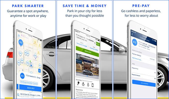 SpotHero Car Parking iPhone App Screenshot
