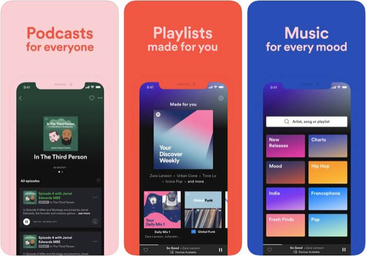 Spotify iPhone and iPad App Screenshot