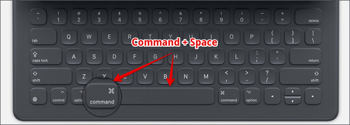 Spotlight search with the Smart Keyboard