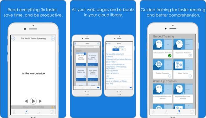Spreeder best speed reading app for iPhone screenshot