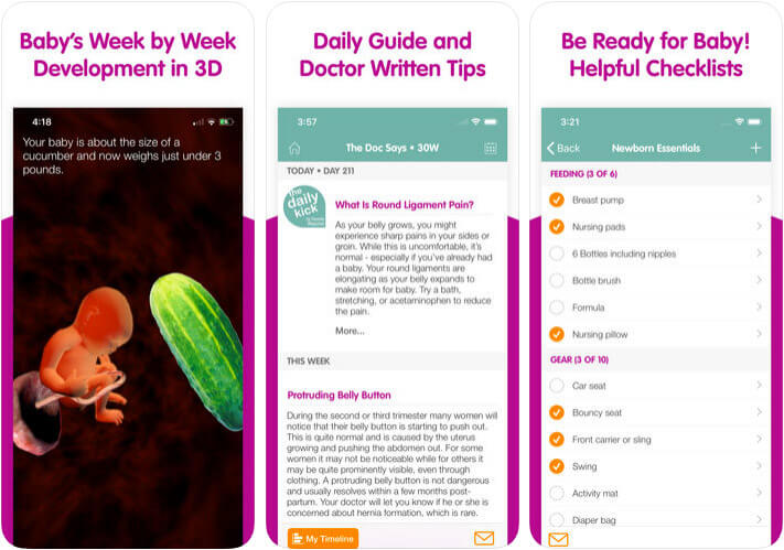 Sprout Pregnancy iPhone and iPad App Screenshot