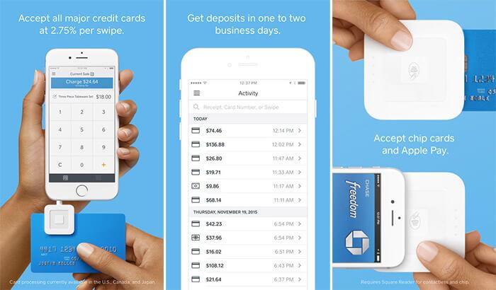 Square iPhone and iPad POS App Screenshot
