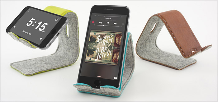 Stanley Foldable Leather Stand for iPhone