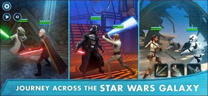Screenshot der Star Wars-Galaxie der Helden iOS Fighting Game App