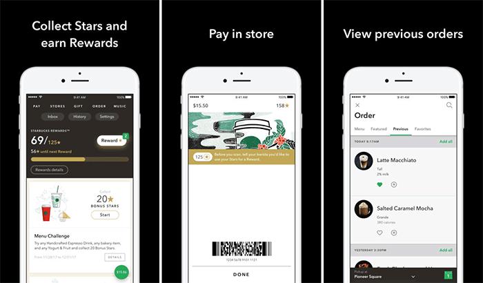 Starbucks iPhone App Screenshot