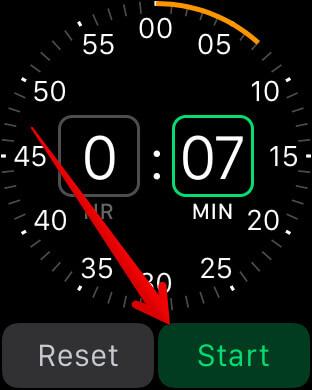 Start Timer on Apple Watch