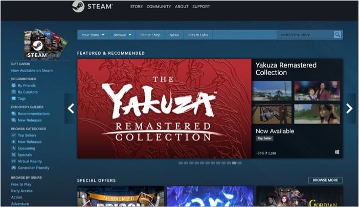 Steam to play PC games on Mac