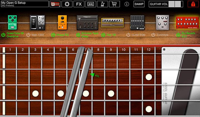 Steel Guitar iPhone and iPad App Screenshot