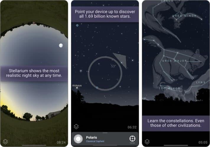 Stellarium PLUS astrophotography iPhone app screenshot