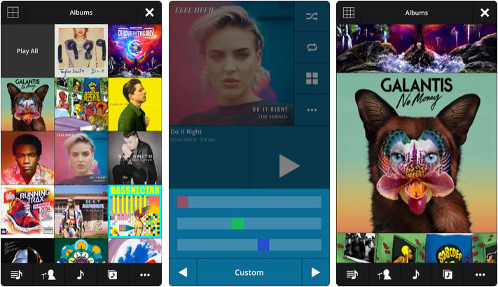 Stezza Music Player iPhone and iPad App Screenshot