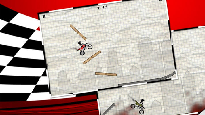 Stick Stunt Biker iPhone BMX Game Screenshot