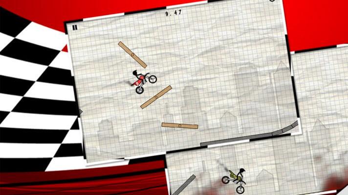 Stick Stunt Biker iPhone BMX Game Screenshot