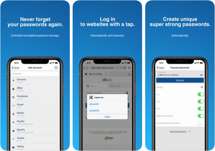 Sticky Password Manager and Safe iPhone App Screenshot