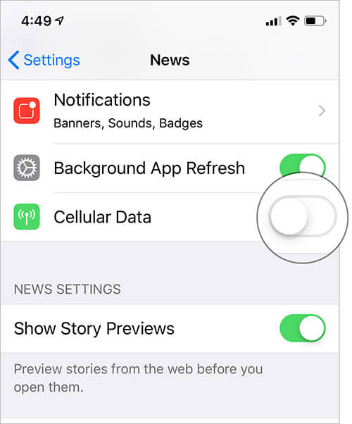 Stop Apple News App from Using Mobile Data on iPhone and iPad