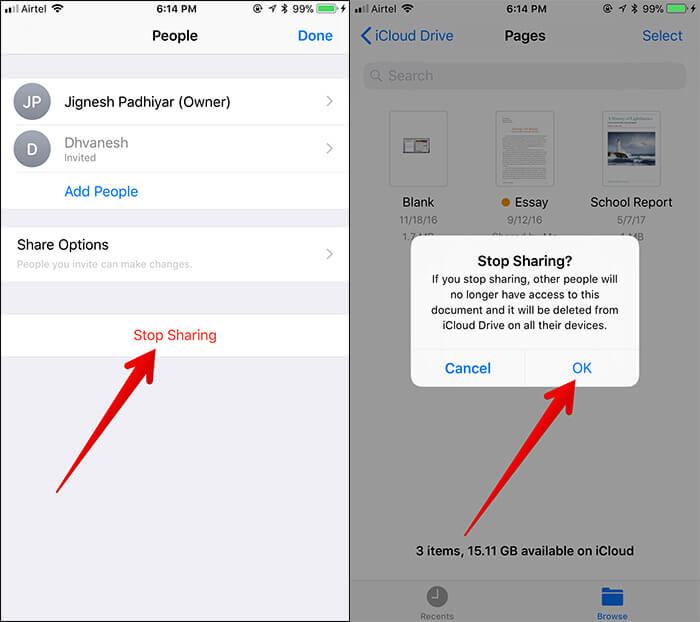 Stop Document Sharing in iOS 11 Files App
