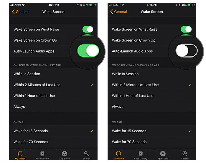Stop Music Apps from Launching Automatically on Apple Watch Using Watch App from iPhone