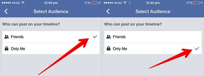 Stop Others from Posting on Your Facebook Wall on iPhone