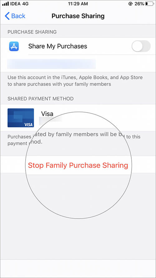Stop Sharing Payment Information to Family Members on iPhone