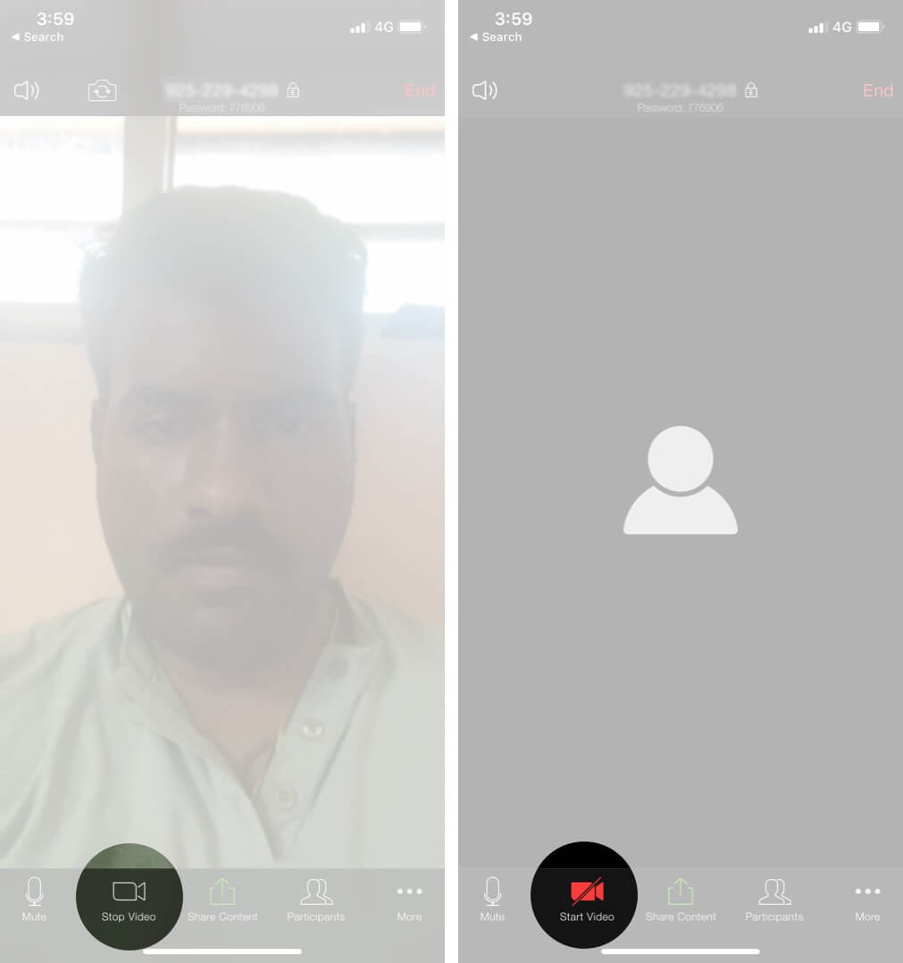 Stop Video During Call on iPhone