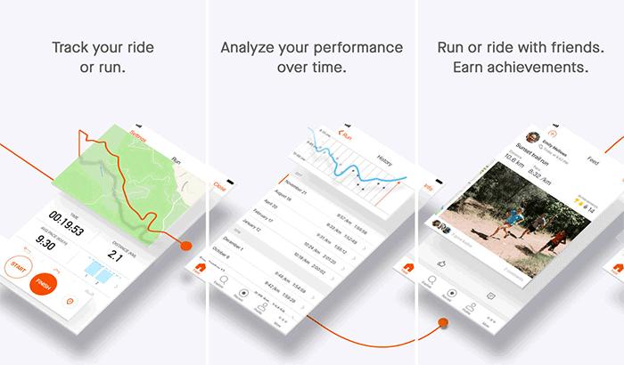 Strava Cycling iPhone App Screenshot