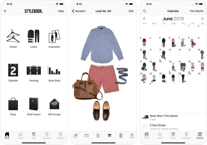 Stylebook Men iOS Closet Management App Screenshot
