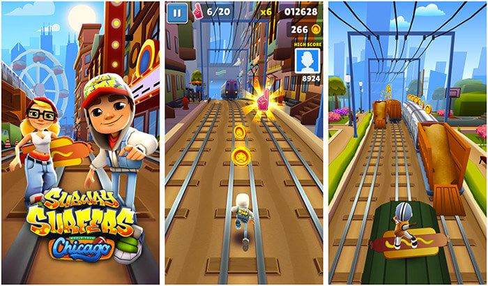 Subway Surfers Kill Stress iPhone and iPad Game Screenshot