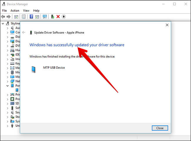 Successfully Update of Device Driver on Windows PC