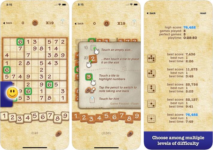 Sudoku iPhone and iPad Board Game Screenshot