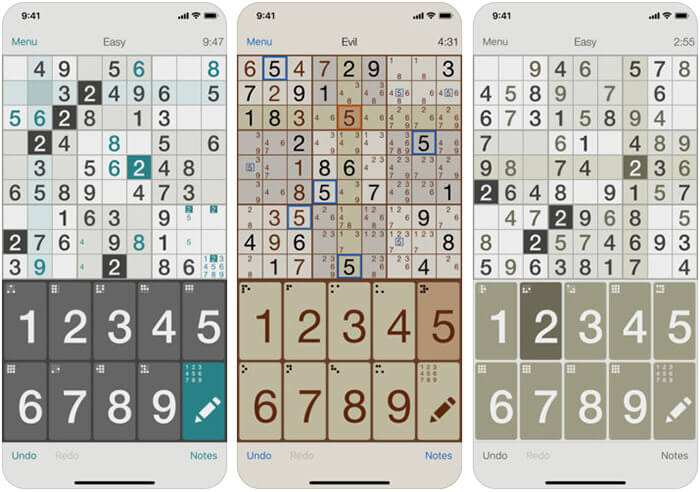 Sudoku iPhone and iPad Game Screenshot