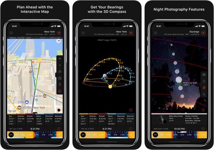 Sun Surveyor iPhone and iPad App Screenshot