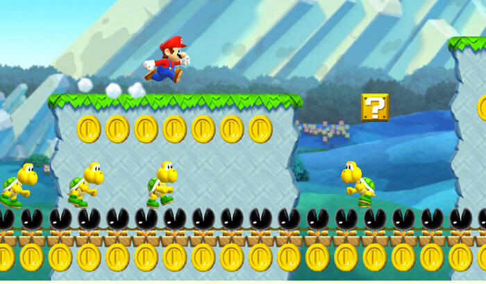 Super Mario Run Endless Runner iPhone and iPad Game Screenshot