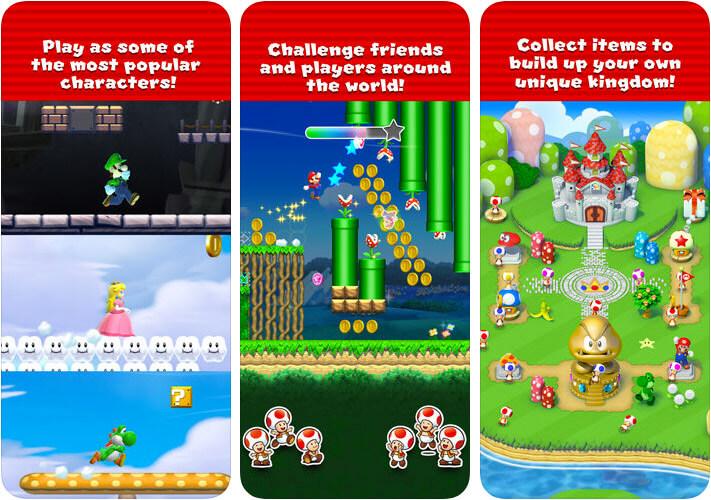 Super Mario Run One-Handed iPhone and iPad Game Screenshot