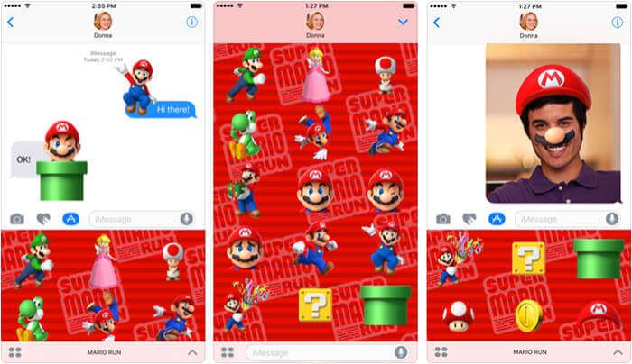 Super Mario Run Stickers iPhone and iPad App Screenshot