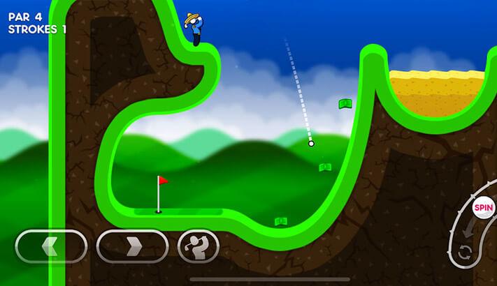 Super Stickman Golf 3 iPhone and iPad Game Screenshot