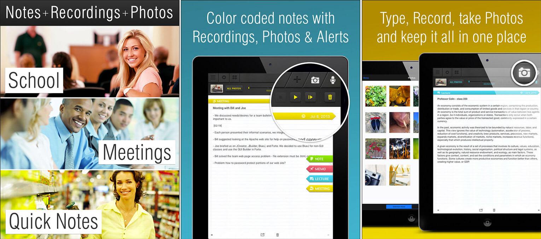 SuperNote Notes Recorder Photo iPhone and iPad Teachers App Screenshot