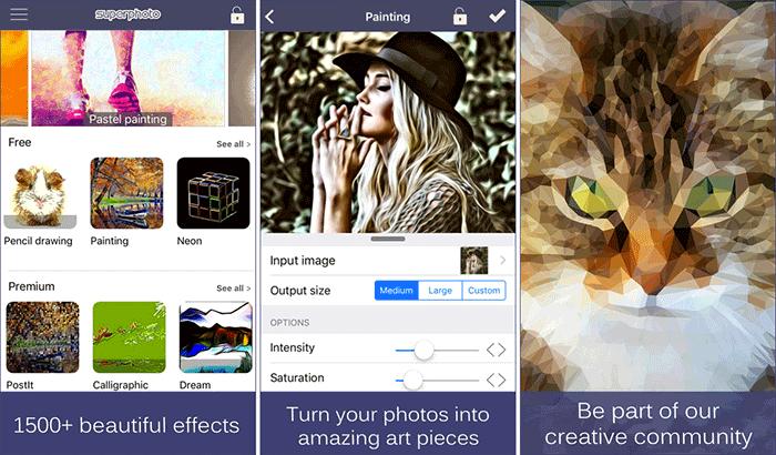 Фильтры и эффекты SuperPhoto Скриншот iPhone и приложения