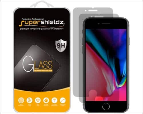 Supershieldz Privacy Screen Protector for iPhone SE 2020