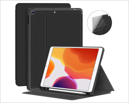 Supveco Folio Case for 2019 iPad 10.2 Inch