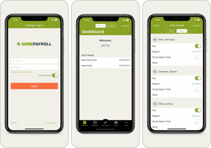 SurePayroll for Employers iPhone and iPad App Screenshot